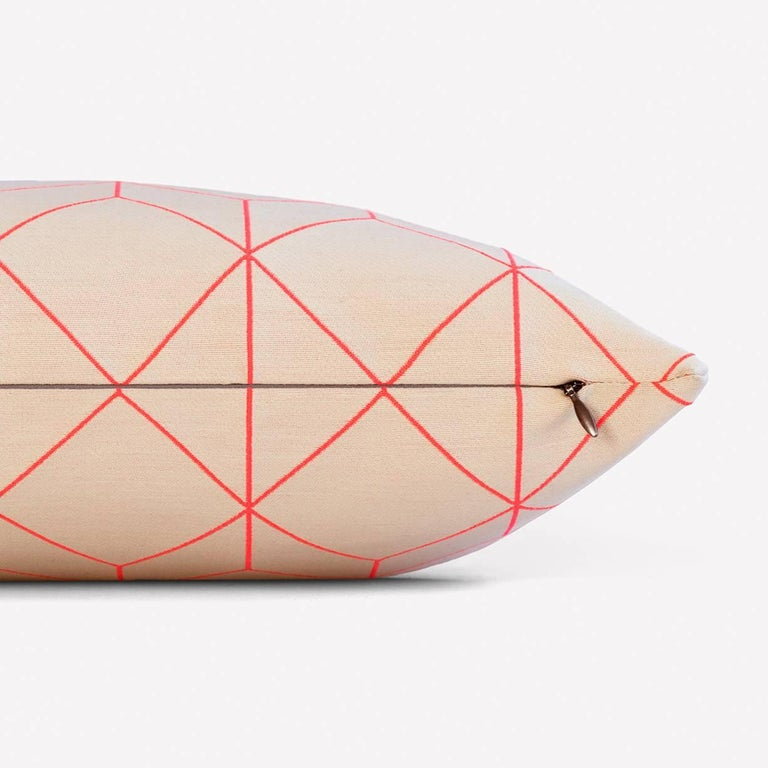 Maharam Pillow Bright Cube by Scholten & Baijings 002 Coral  Bright grid, bright angle, and bright cube are second in a series of products designed by Scholten & Baijings in collaboration with Maharam. Drawing upon Scholten & Baijings' distinct