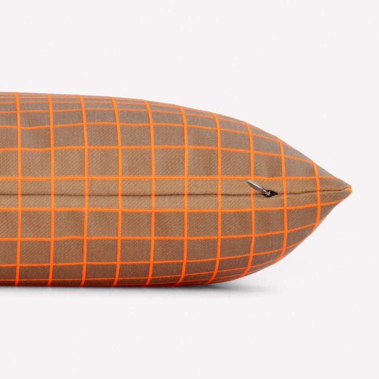 Maharam Pillow Bright Grid by Scholten & Baijings 003 Safety  Bright Grid, Bright Angle and bright cube are second in a series of products designed by Scholten & Baijings in collaboration with Maharam. Drawing upon Scholten & Baijings' distinct