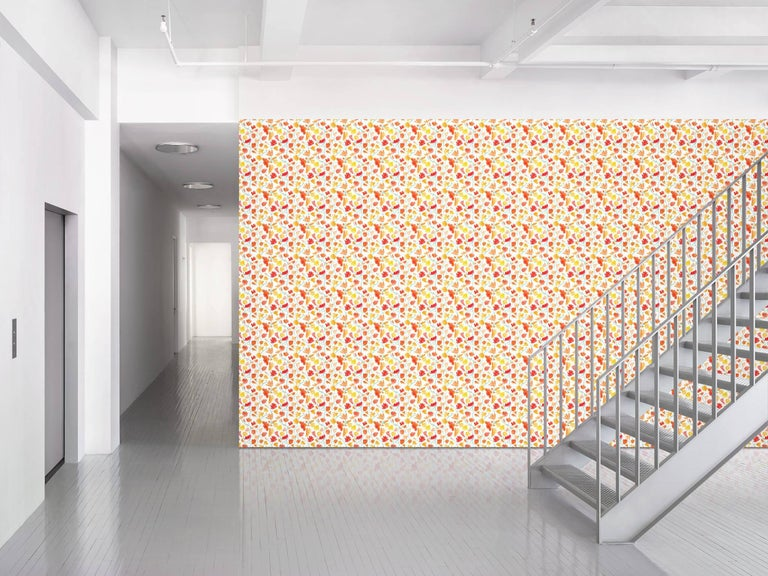 Maharam Serpentine Galleries Wallpaper Watercolor Flowers by SANAA 001  SANAA is a Tokyo-based architecture firm founded by Ryue Nishizawa and Kazuyo Sejima. Their work is characterized by an immaterial quality that is achieved through openness