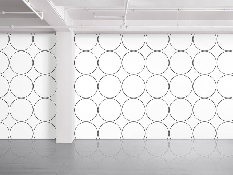 Maharam Serpentine Galleries wallpaper Circle Cutter's Room by Rosemarie Trockel  001 White   Rosemarie Trockel is a conceptual artist based in Cologne whose work in textiles, sculpture, collage, and video examine feminine modes of production.