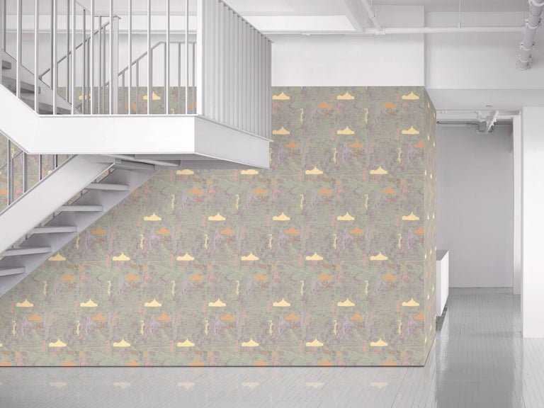 Maharam Serpentine Galleries wallpaper Pavilion by Marc Camille Chaimowicz  002 Sage  Marc Camille Chaimowicz was among the first to merge performance and installation art. London- and Burgundy-based, he's known for theatrical installations that