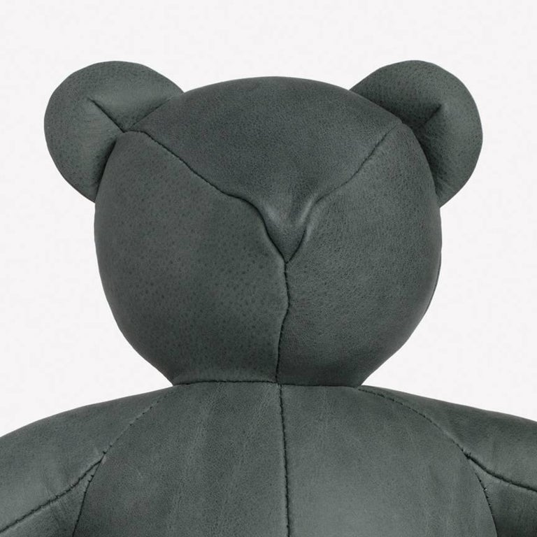 Maharam bear byPin-Up 004 Ivy  Initially created for Pin-Up's Fall/Winter 2016-2017 issue, the Bear is handmade by a small-scale Canadian producer from Loam, a high-quality Italian nubuck with a matte, velvety surface that's one of nine Maharam
