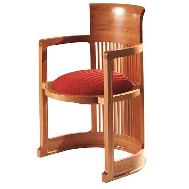 Frank Lloyd Wright Set Of Two 606 Barrel Armchairs For