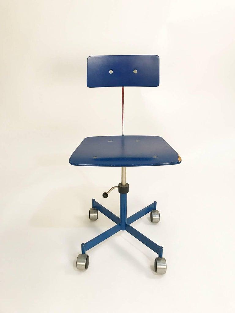 1960s Blue Danish Kevi Desk Chair By Jorgen Rasmussen At