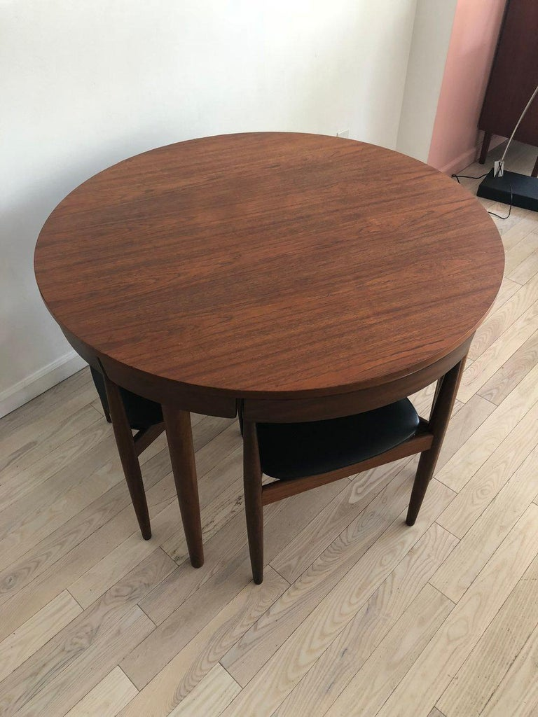 Mid-20th Century Danish Midcentury Hans Olsen for Frem Rojle Compact Dining Table Set For Sale