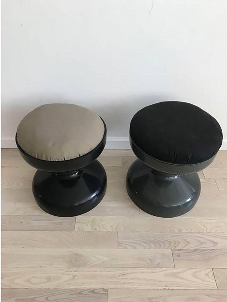 Pair Of 1967 Rocchetto Stools For Kartell At 1stdibs