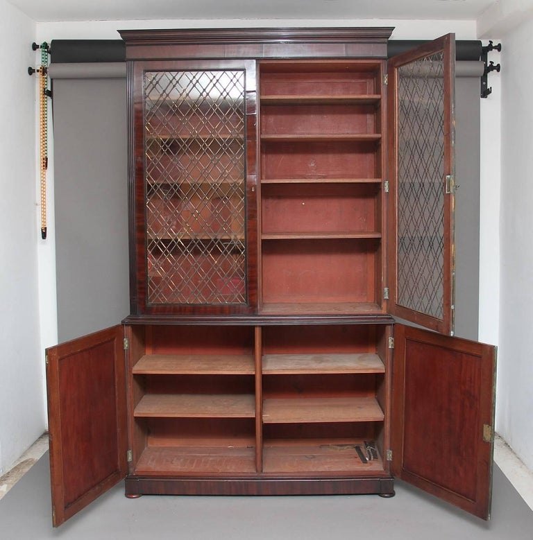Large Regency Mahogany Bookcase For Sale At 1stdibs