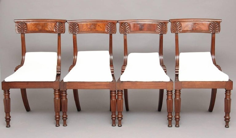 William IV Set of Four 19th Century Dining Chairs For Sale
