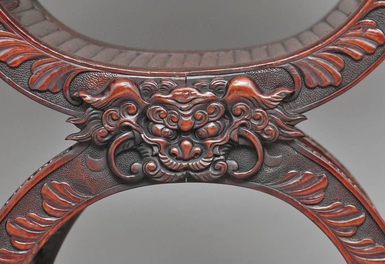 19th Century Chinese Carved Throne Chair For Sale 5