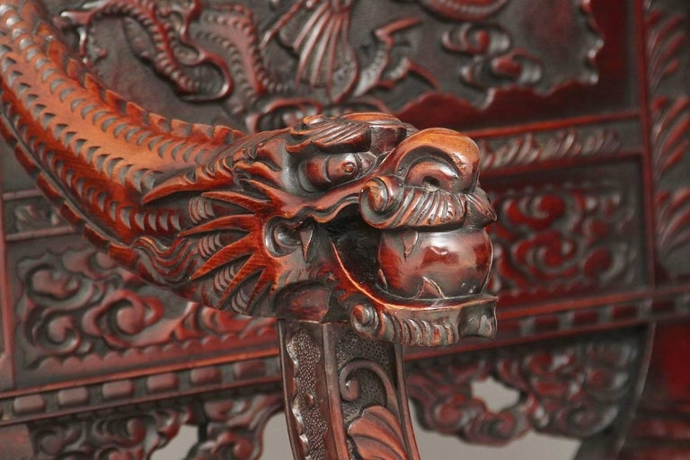 19th Century Chinese Carved Throne Chair For Sale 2