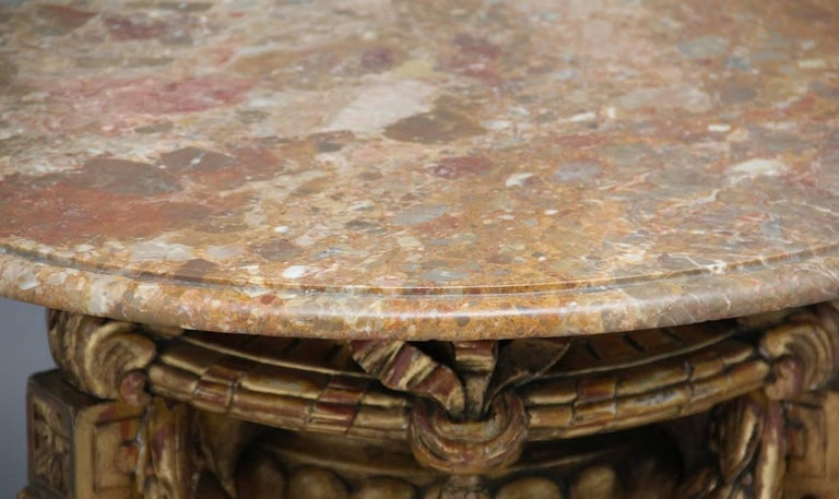 Mid-20th Century Marble Top Occasional Table For Sale 2