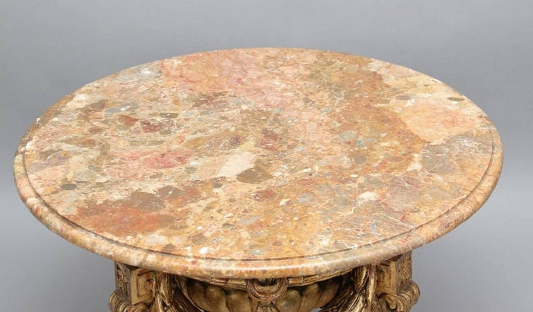 Mid-20th Century Marble Top Occasional Table For Sale 1