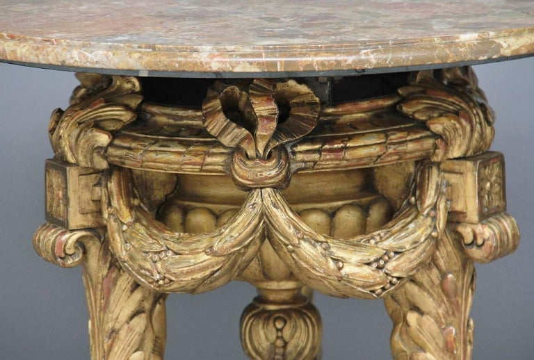 Italian Mid-20th Century Marble Top Occasional Table For Sale