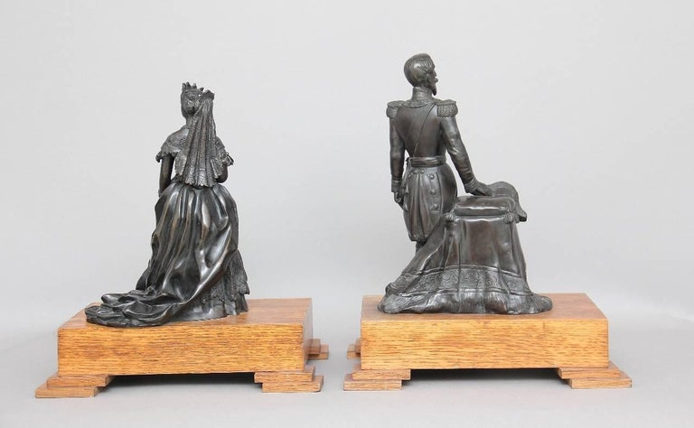 Mid-19th Century Pair of 19th Century French Bronzes For Sale