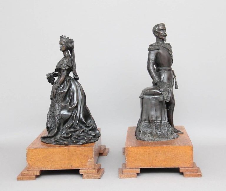 Pair of 19th Century French Bronzes In Good Condition For Sale In Martlesham, GB