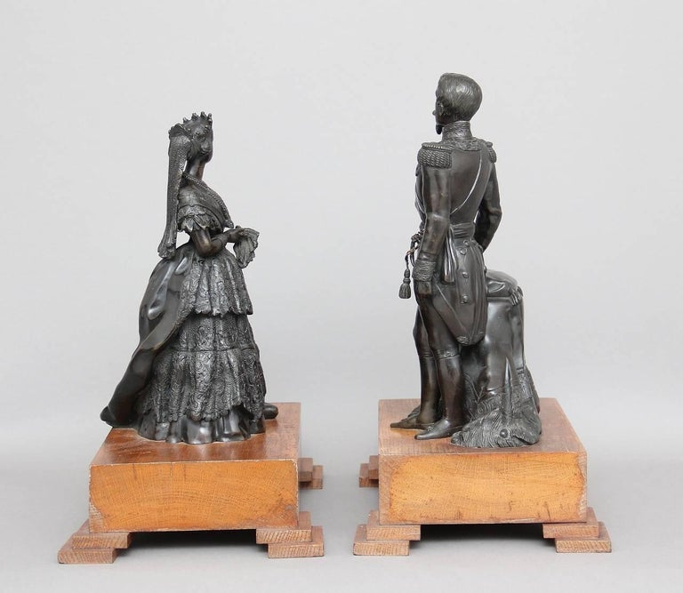 Pair of 19th Century French Bronzes For Sale 1