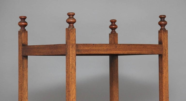 Early 19th Century Mahogany Four-Tier Whatnot For Sale 3
