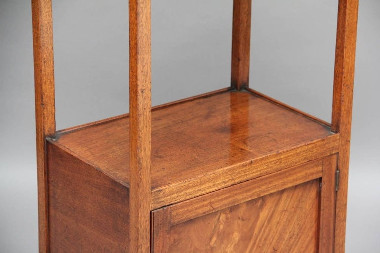 Early 19th Century Mahogany Four-Tier Whatnot For Sale 4