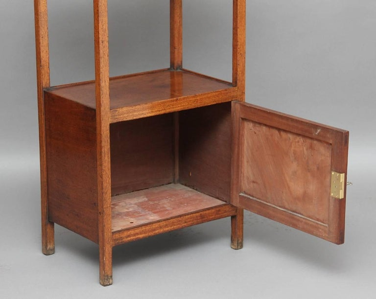 Regency Early 19th Century Mahogany Four-Tier Whatnot For Sale