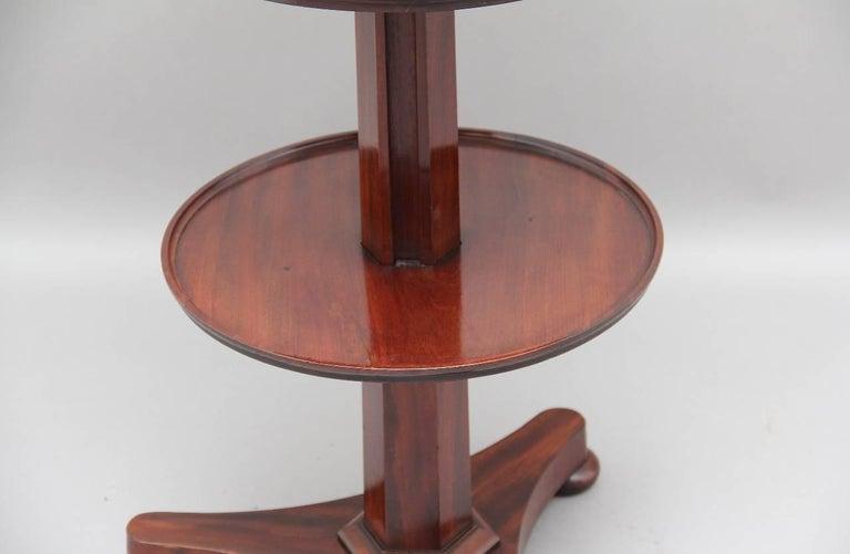 English 19th Century Mahogany Circular Dumbwaiter For Sale