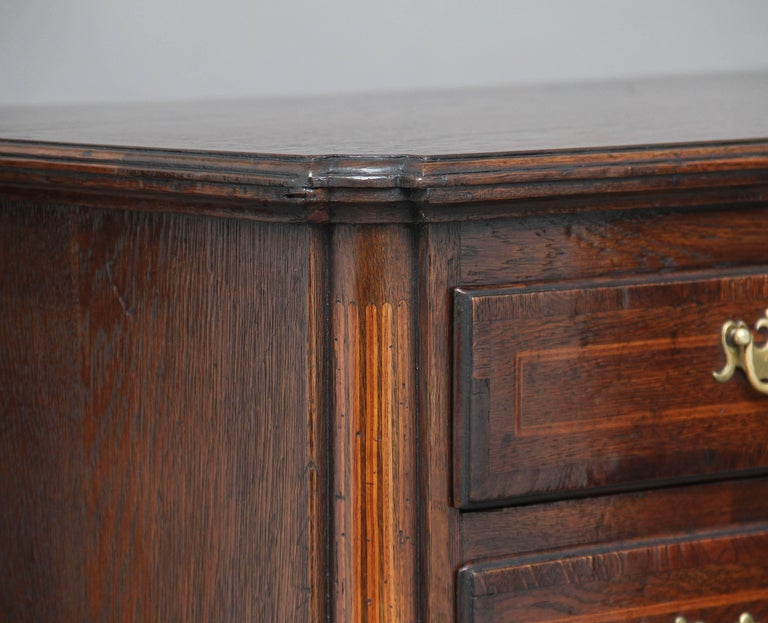 18th Century Oak Chest of Drawers In Good Condition For Sale In Martlesham, GB