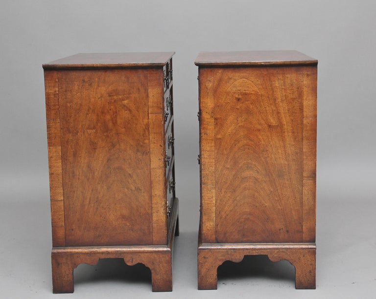 English Pair of Burr Walnut Chest of Drawers For Sale