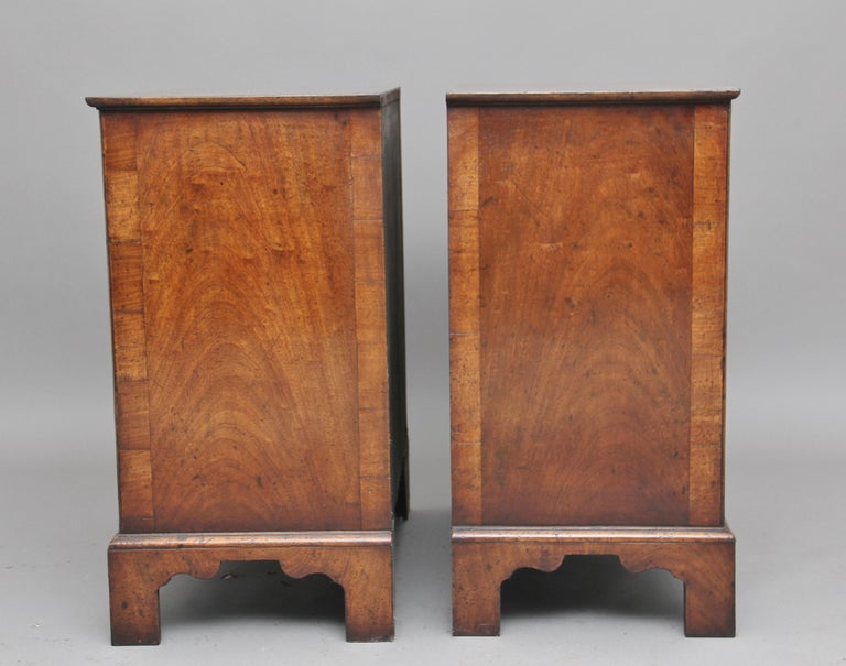 Contemporary Pair of Burr Walnut Chest of Drawers For Sale
