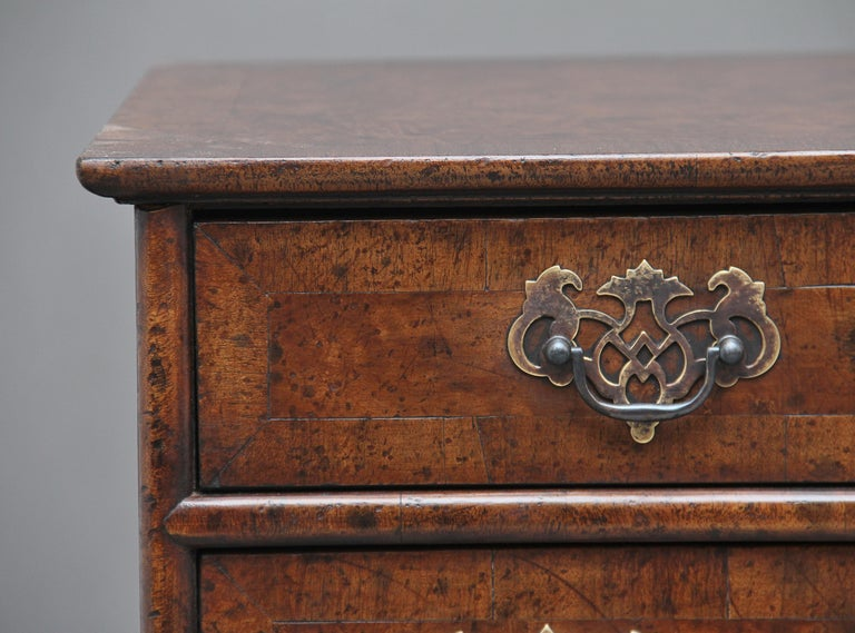 Pair of Burr Walnut Chest of Drawers For Sale 4
