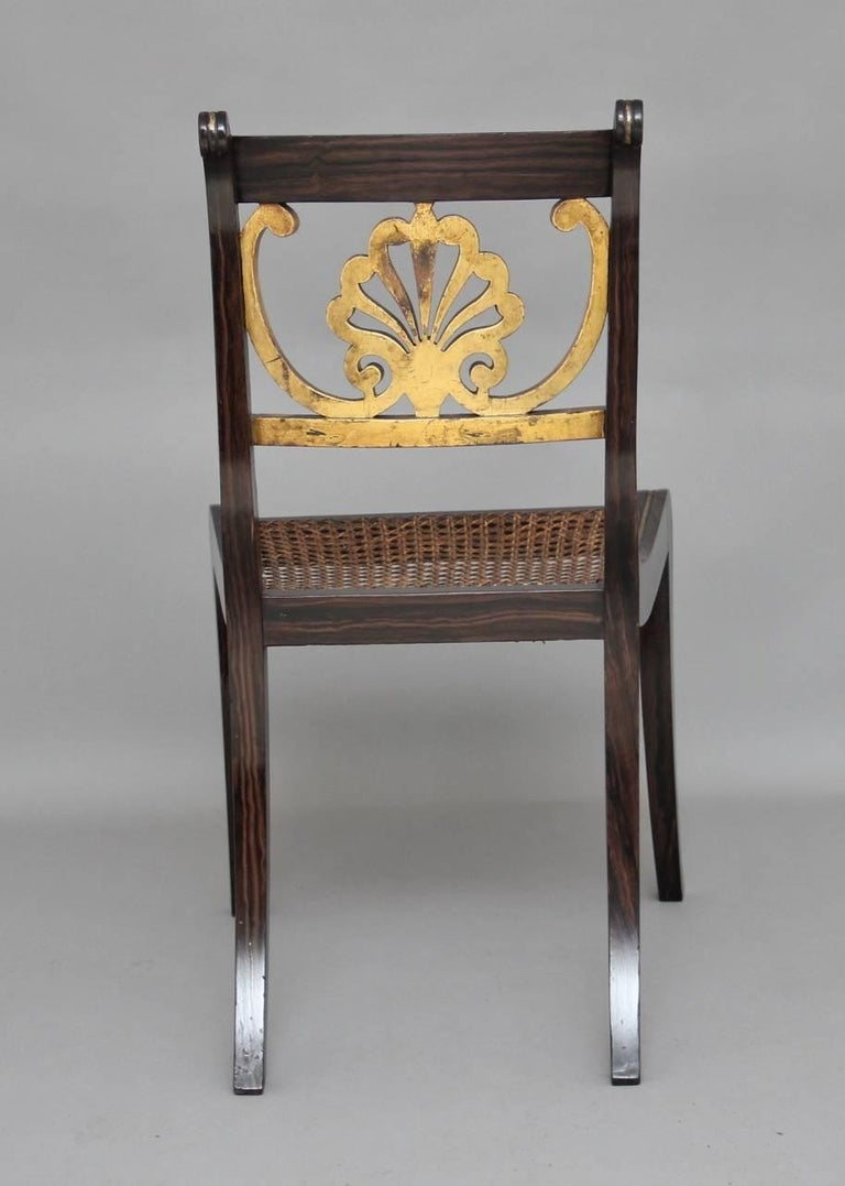 Early 19th Century Set of Six 19th Century Regency Chairs For Sale