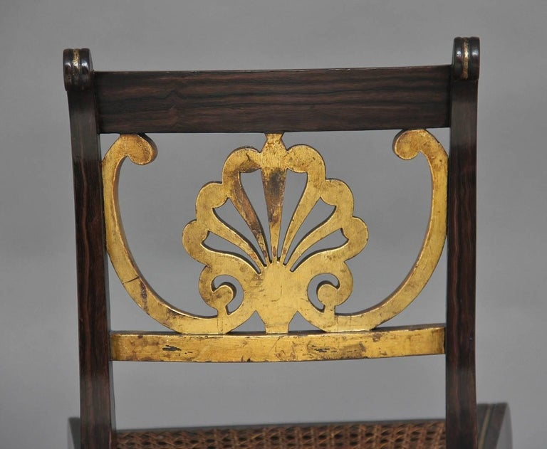 Set of Six 19th Century Regency Chairs For Sale 2