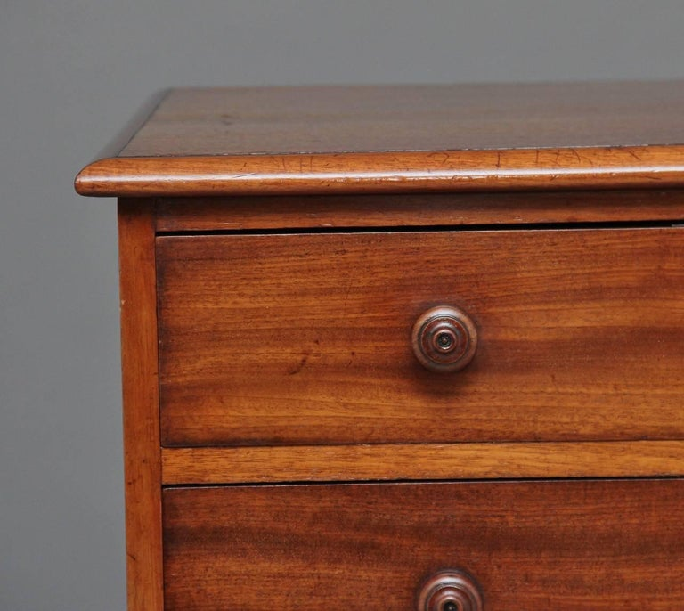 Mid-19th Century 19th Century Seven-Drawer Mahogany Chest For Sale