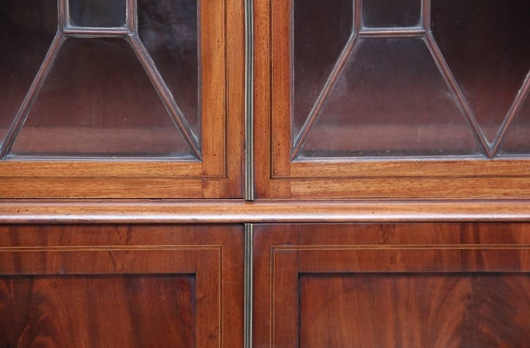 19th Century Mahogany Breakfront Bookcase For Sale 3