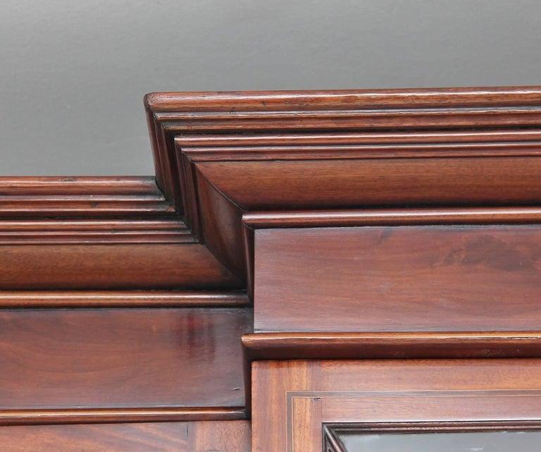 19th Century Mahogany Breakfront Bookcase For Sale 4