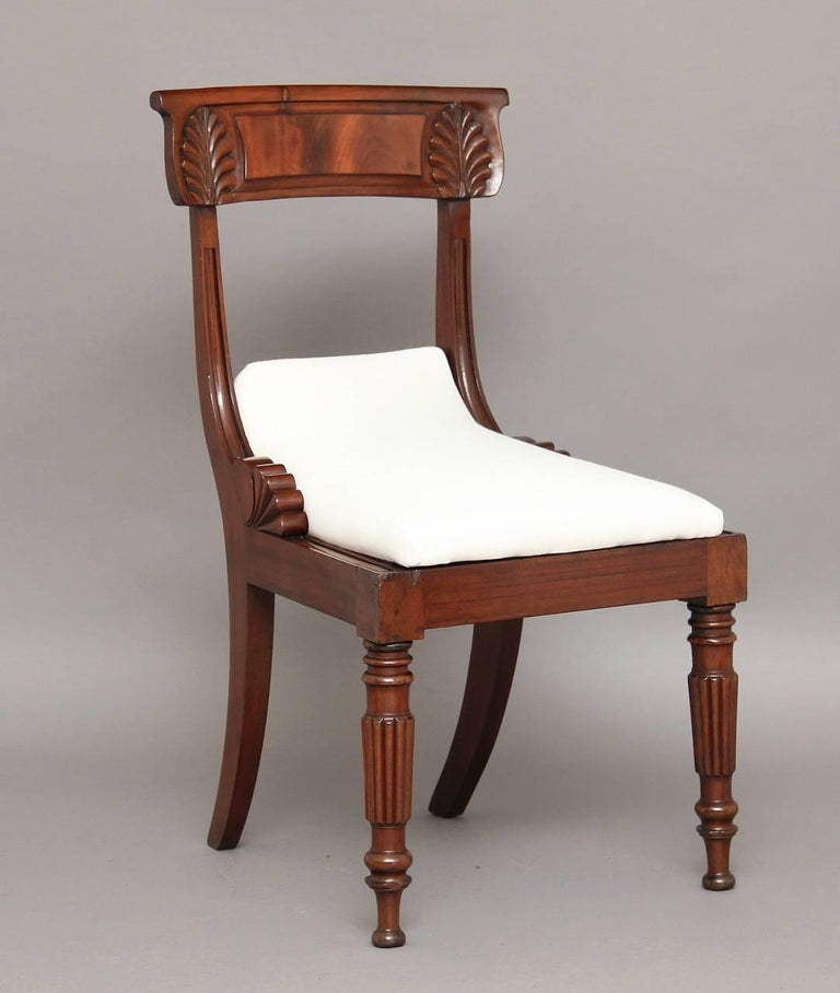 English Set of Four 19th Century Dining Chairs For Sale