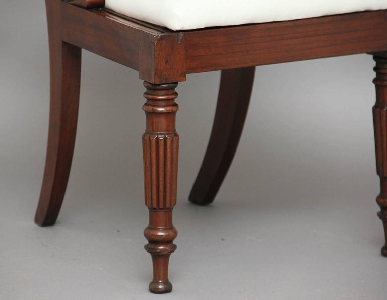Set of Four 19th Century Dining Chairs For Sale 1