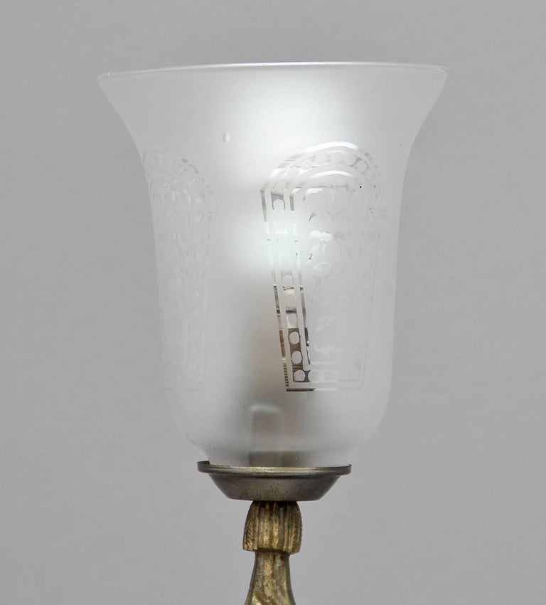 Early 20th Century Brass Lamp For Sale 6