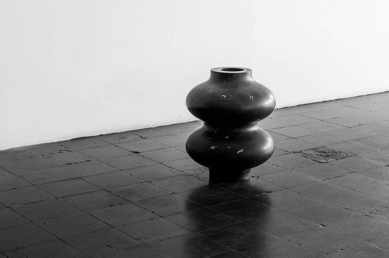 Mexican S.R.O Rito Black Marble Vessel #6 'Small' by EWE Studio For Sale