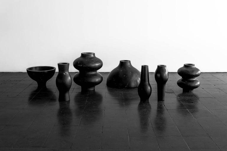 S.R.O Rito Black Marble Vessel #6 'Small' by EWE Studio In New Condition For Sale In Mexico City, CDMX