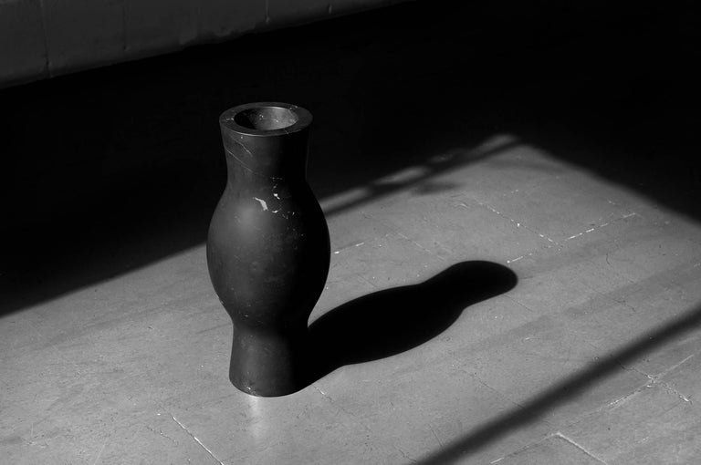 Mexican S.O.R. Rito Black Marble Vessel #5 'Small' by EWE Studio For Sale