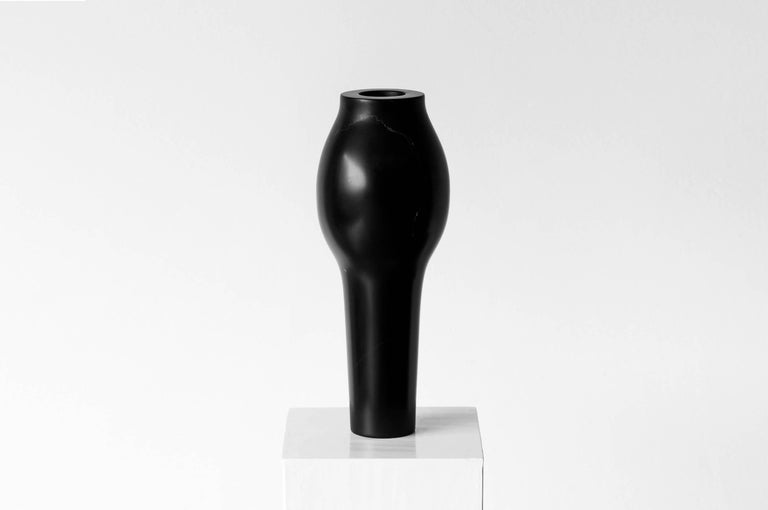 Brutalist S.R.O Rito Black Marble Vessel #1 ( Large ) by Ewe Studio For Sale