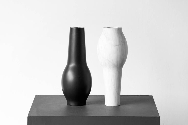 Hand-Carved S.R.O Rito Marble Vessel #2 ( Large ) by EWE Studio For Sale