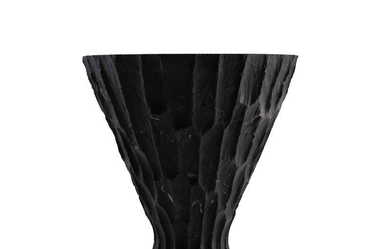 Brutalist Black Marble Side Table #1 S.R.O. Altar For Sale