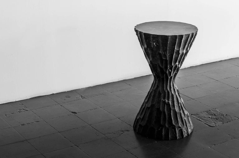 Black Marble Side Table #1 S.R.O. Altar In New Condition For Sale In Mexico City, CDMX