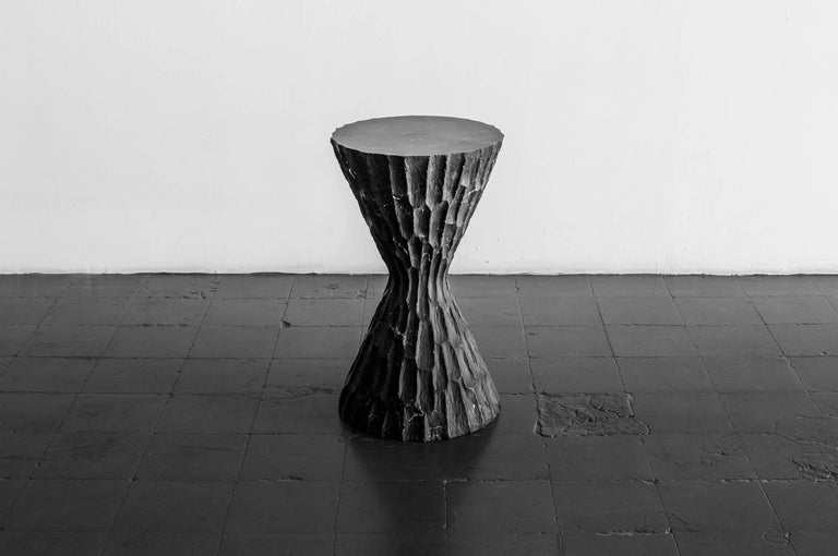 Contemporary Black Marble Side Table #1 S.R.O. Altar For Sale