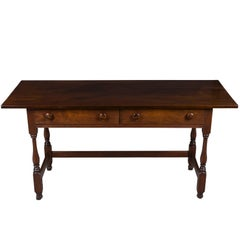 William and Mary Style Two Drawer Writing Table Desk