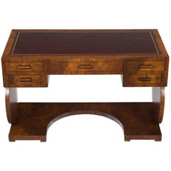 Art Deco Style Leather Top Small Writing Desk