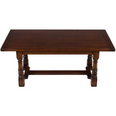 Rustic Cherry Farm Table Thick Legs and Top Seats Six