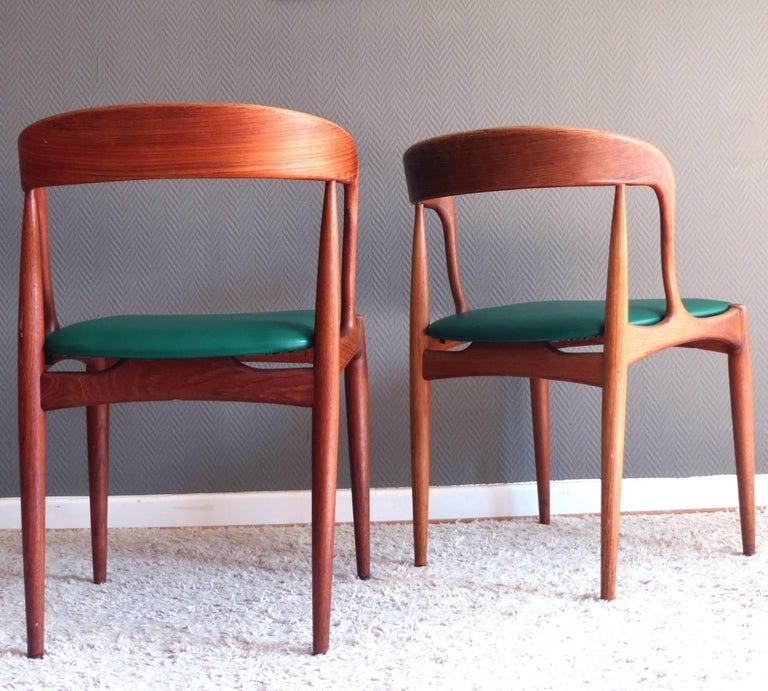 Scandinavian Modern Uldum Denmark Model 16 by Johannes Andersen Dining Teak Chairs ,Set of 2, 1960s For Sale