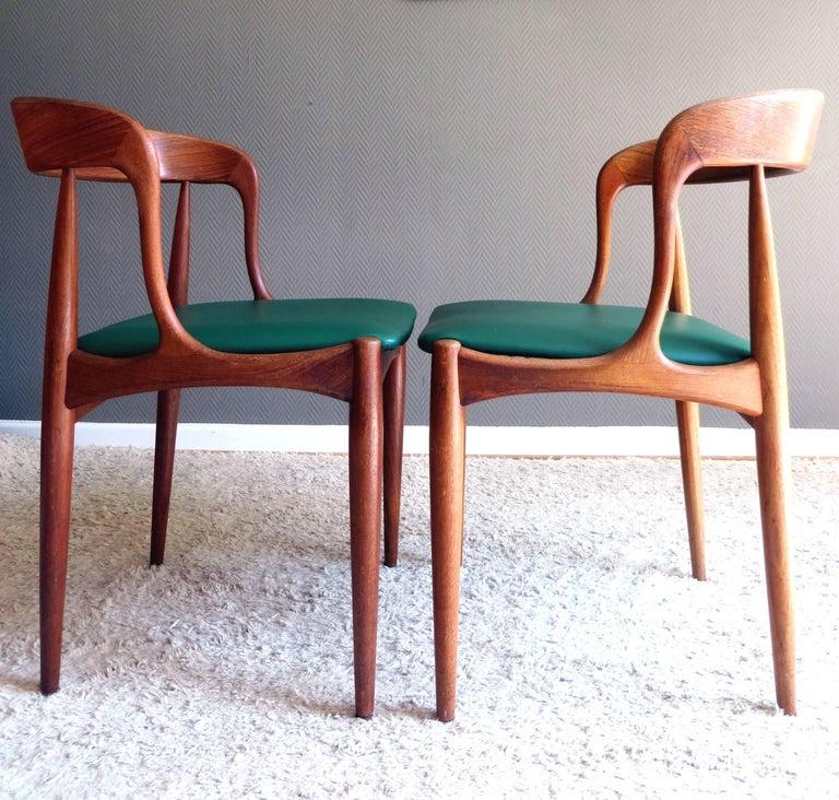 Uldum Denmark Model 16 by Johannes Andersen Dining Teak Chairs ,Set of 2, 1960s In Good Condition For Sale In Hamburg, DE