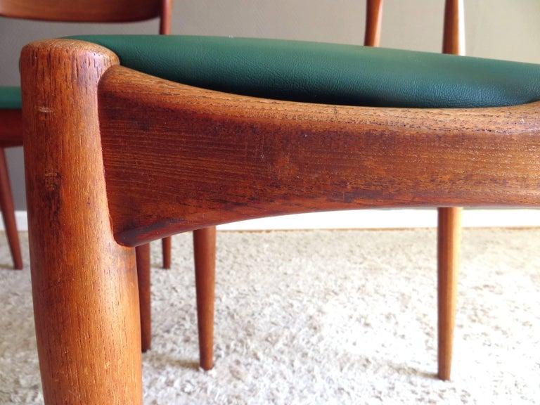 Uldum Denmark Model 16 by Johannes Andersen Dining Teak Chairs ,Set of 2, 1960s For Sale 2